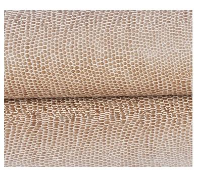 Кожзам на тканной основе с тиснением под змею, цвет коричневый, размер 70х50 см, 131703