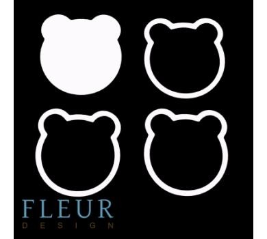 Заготовка для шейкера Мишка от FLEUR design, FD1531032