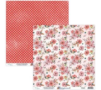 Бумага двусторонняя для скрапбукинга Berrylicious by Mintaypapers, арт. MT-BER-04