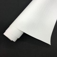Кожзам (экокожа) на полиуретановой основе с тиснением под крокодила, цвет белый, арт. SC410061