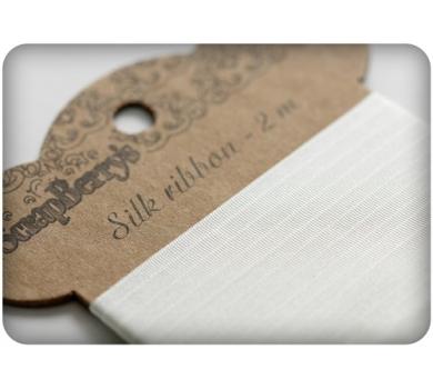 Лента шелковая, цвет белый, арт. SCB510201