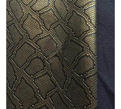 Кожзам с тиснением под рептилию, золото, арт. KA400808