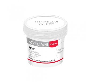 Акриловая краска для декора, цвет Белила Титановые, 20 мл, арт. SCB313101