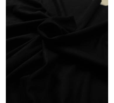 Искусственная замша двусторонняя, цвет черный, арт. 411627