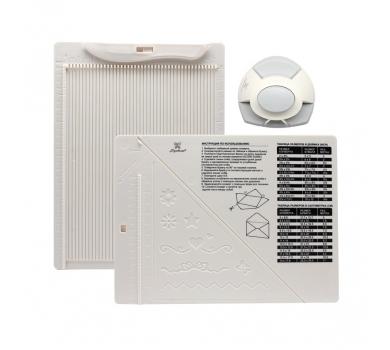 Доска для создания конвертов и открыток в комплекте с дыроколом угла, арт. DDB-K01