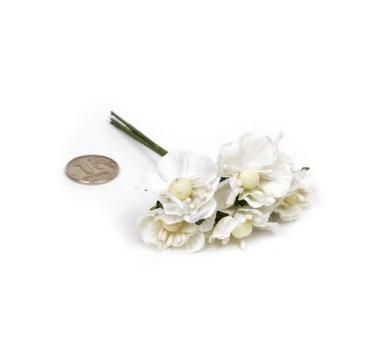 Декоративный букетик белый, арт. MG-FA72-3