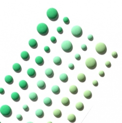 Набор эмалевых дотсов Оттенки зеленого, арт. 113102
