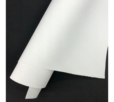 Кожзам (экокожа) на полиуретановой основе с тиснением под питона, цвет белый, арт. SC400044