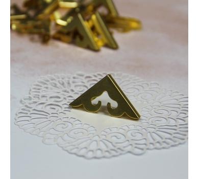 Металлические уголки, цвет Золото, 27*27 мм, 1 шт., AL04051718