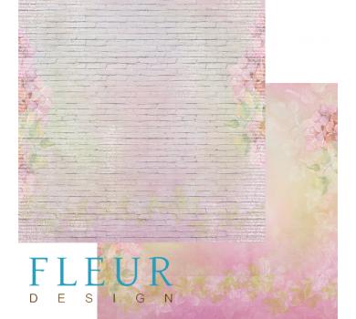 Лист бумаги для скрапбукинга Кирпичная стена коллекция Мой сад, арт. FD1004912
