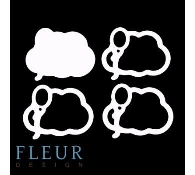 Заготовка для шейкера Облако и воздушный шарик маленькая от FLEUR design, FD1531031