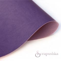 Кожзам (экокожа) на полиуретановой основе фиолетовый, арт. SC420038