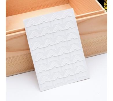 Набор уголков для фото на клеевой основе, цвет белый, арт. 131501