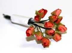 Декоративный букетик Розы оранжевые, 12 шт., арт. DKB055B4