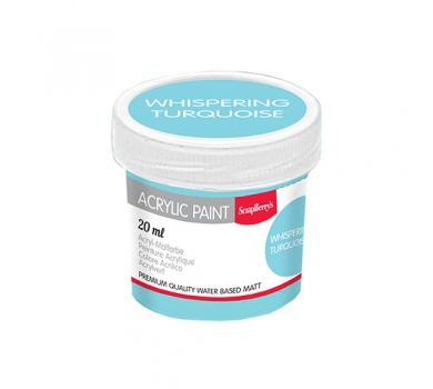 Акриловая краска для декора, цвет Светло-бирюзовый, 20 мл, арт. SCB313113