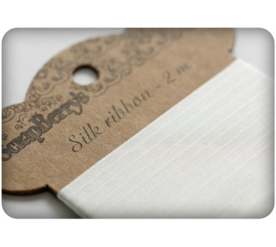 Лента шелковая, цвет белый, 25 мм, арт. SCB510202