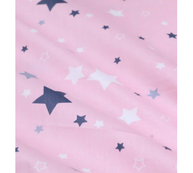 Отрез ткани Звезды на розовом, арт. 125802