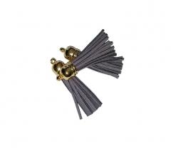 Декоративная кисточка из искусственной замши, серая, KA106039