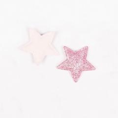 Патч (нашивка) с глиттером Розовая звезда, 1 шт., арт. 194901