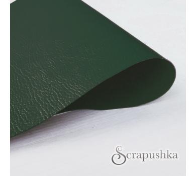 Кожзам (экокожа) с тиснением на полиуретановой основе зеленый, арт. SC410043
