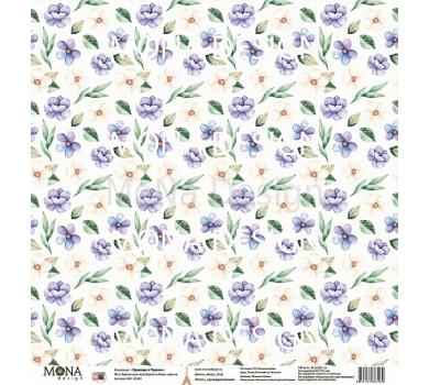 Лист бумаги для скрапбукинга Вальс цветов, коллекция Однажды в Париже, арт. MD83269