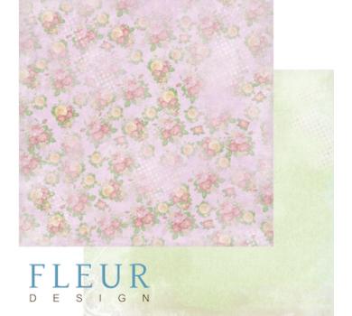 Лист бумаги для скрапбукинга Цветочная карамель, коллекция Полет души, арт. FD1004410