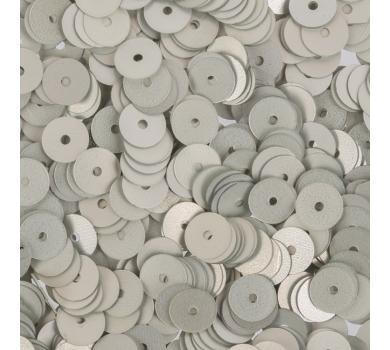 Пайетки плоские круглые с матовым эффектом, цвет Серебристый, 6 мм, 10 гр, ZF-26-002
