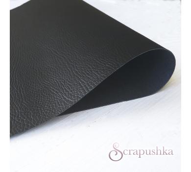 Кожзам (экокожа) с тиснением на полиуретановой основе черный, арт. SC401206