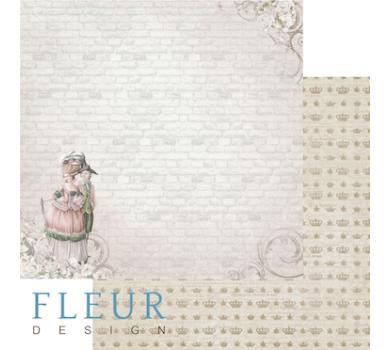 Лист бумаги для скрапбукинга Прогулка Луизы, коллекция Джентиль, арт. FD1003906