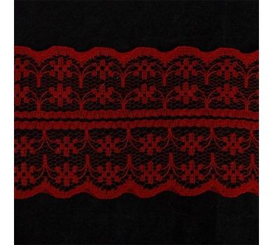 Кружево-трикотаж, цвет красный, TBY-133-2A1