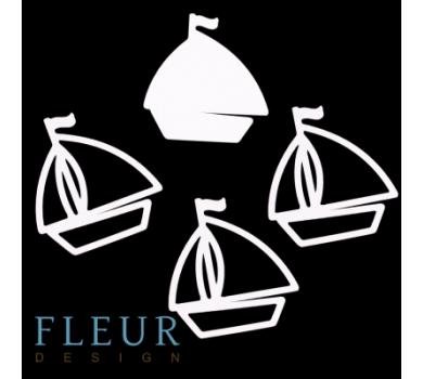 Заготовка для шейкера Кораблик от FLEUR design, FD1531016