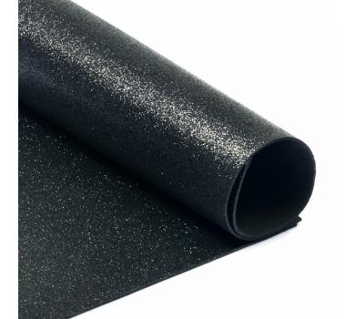 Глиттерный фоамиран черный, арт. H019