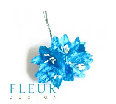 Цветы Лилии синие, размер цветка 3,75 см, 5 шт / упаковка FD3031266