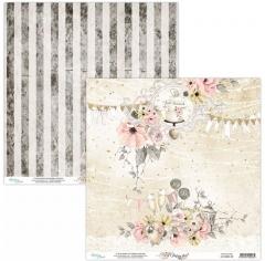 Бумага двусторонняя для скрапбукинга Marry me by Mintaypapers, арт. MT-MRM-03