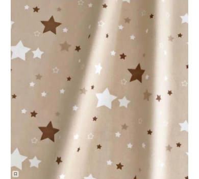Отрез ткани Звезды на коричневом, арт. 125803