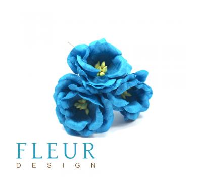Цветы Магнолии, цвет бирюзовый, арт. FD3133266