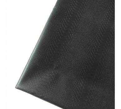 Кожзам с тиснением под рептилию, черный, арт. KA410802