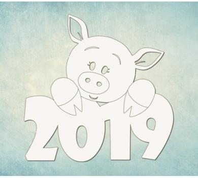 Чипборд Символ 2019, ARTCHB004756
