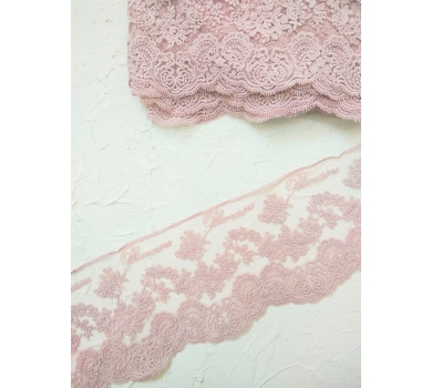 Кружево Blumarin, цвет пыльно-розовый, арт. BLM002