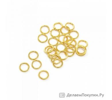 Соединительное колечко, цвет золото, KA100184