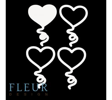 Заготовка для шейкера Шарик в форме сердца маленькая, от FLEUR design, FD1531040