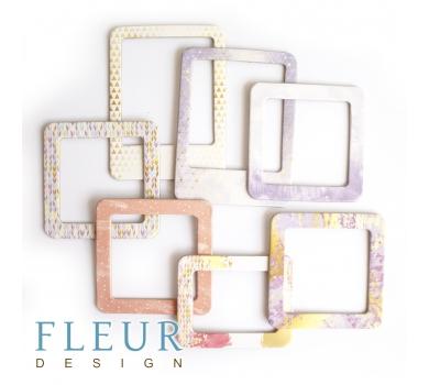 Набор рамочек Фолетовый с золотом коллекция Pretty violet,7 элементов, FD2077011