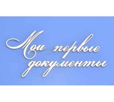 Чипборд надписи Мои первые документы, ARTCHB002759