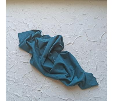 Искусственная замша двусторонняя (тонкая), цвет сине-зеленый, арт. 411630