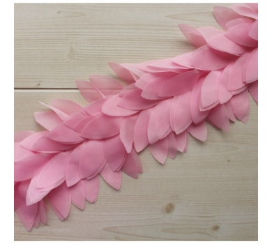 Шифоновые лепестки на ленте, цвет Розовый, 27071