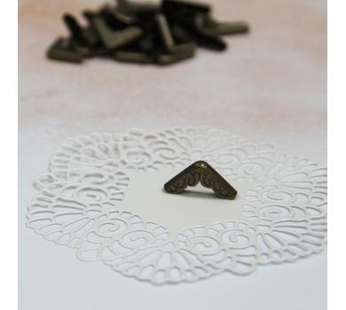 Металлический уголок ажурный, цвет бронза, 1 шт., AL04051713