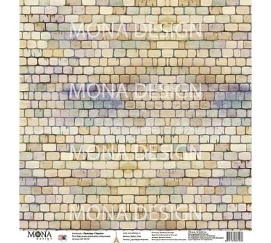 Лист бумаги для скрапбукинга Кирпичики, коллекция Однажды в Париже, арт. MD83238