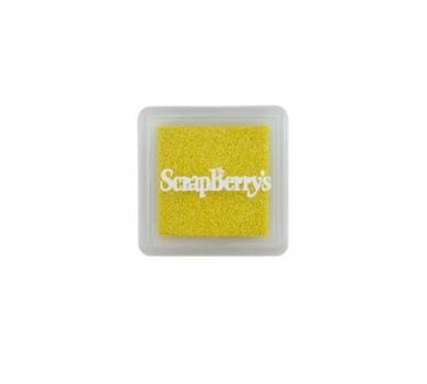 Подушечка чернильная пигментная, цвет мерцающий солнечно-жёлтый, размер 2,5х2,5 см, SCB1210401