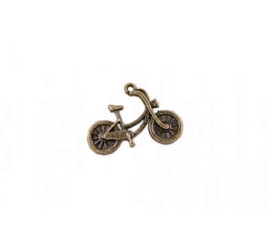 Подвеска металлическая Велосипед, цвет бронза, 20x26 мм, SCB25011496