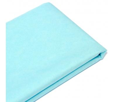 Бумага упаковочная тишью, цвет голубой, 50 см х 76 см, арт. 1618